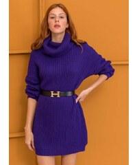 850b65c3e4b8 The Fashion Project Μαλακό και ζεστό πλεκτό με ζιβάγκο - Μωβ ...