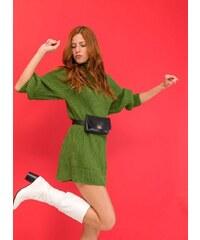 The Fashion Project Μακρύ πλεκτό με ψηλή λαιμόκοψη - Πράσινο - 001 e7dbfc5ac4a
