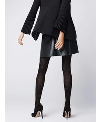 Per Mia Donna Γυναικείο καλσόν μαύρο 40den με μικρά λευκά πουά 60c9b0dbbb1