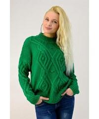 c9a0941ab939 Potre Γυναικείο πλεκτό πουλόβερ με πλεξούδα