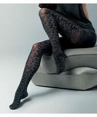 Per Mia Donna Γυναικείο καλσόν 80den με σχέδιο λεοπάρ σε μωβ χρώμα 537a6098565