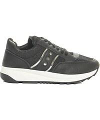 Luigi Sneakers σε Συνδυασμό Υλικών - Μαύρο - 002 df372c2752f