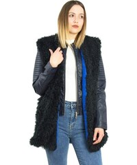 Γυναικείο μαύρο-μπλε αμάνικο γουνάκι φλις επένδυση Benissimo 61913J ef92af7d705