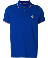 9c425bad1338 Moncler logo patch polo shirt - Blue