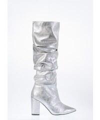 Ασημί Γυναικείες μπότες και μποτάκια αστραγάλου με δωρεάν αποστολή ... 989cb4aa5b9