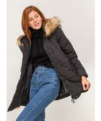 The Fashion Project Oversize καπιτονέ μπουφάν με φερμουάρ - Μαύρο -  06557002004 3635b7914b0