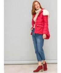 The Fashion Project Καπιτονέ λεπτό μπουφάν σε άλφα γραμμή - Κόκκινο -  06565014004 03d1650dac5