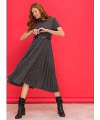 The Fashion Project Λεπτό μάλλινο πλισέ φόρεμα - Ανθρακί - 06413039001 c4f059696bc