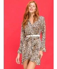 The Fashion Project Κρουαζέ leopard φόρεμα με βολάν - Leopard - 06032032001 c6ef8efeef9