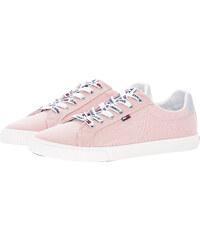Tommy Hilfiger Γυναικεία Παπούτσια Casual Casual.Sneaker Ροζ Πάνινο 670c29ec112