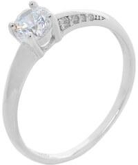 Ασημένιο δαχτυλίδι CQ RG084 Μονόπετρο σε ασημί χρώμα με λευκά ζιργκόν έως 6  άτοκες δόσεις e7966d9cc92