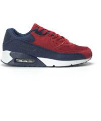 Jomix Ανδρικά αθλητικά παπούτσια Air κόκκινο χρώμα και ντένιμ 4b229ab7912