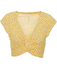 FREE PEOPLE W HAVANA HONEY PRINTED TOP - OB919624-YELLOW YELLOW a90da58c2c8