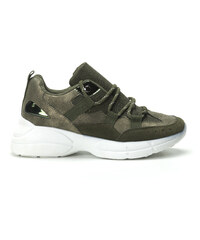 Sergio Todzi Γυναικεία χακί sneakers με πλατφόρμα b0a53aea1cc