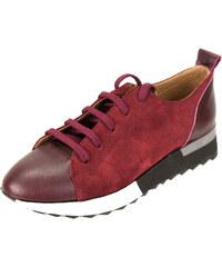 ee92a2cdaa4 Γυναικεία Δερμάτινα Sneakers Κούρος, Μπορντώ, Δέρμα και Καστόρι κωδ. L400