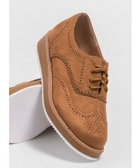 The Fashion Project Suede oxfords με χρώμα στη σόλα - Ταμπά - 06683007002 4eaf08f6ac5