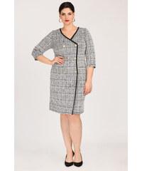 e76d007a6537 Dina XL Plus Size Φόρεμα ζέρσεϋ με φλοράλ τουνίκ - Glami.gr