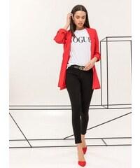 The Fashion Project Ελαφρύ σακάκι με λεπτή ρίγα - Κόκκινο - 06730014001 0b56f0544a4