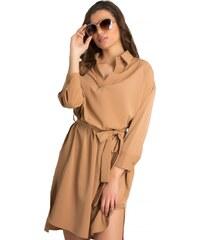 DeCoro F91132 Φόρεμα με Ζωνάκι - ΚΑΦΕ - 14 a51fd7d56b0