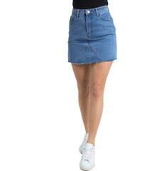 Huxley   Grace Γυναικεία μπλε χλώριο τζιν φούστα φερμουάρ ψηλόμεση ITA6306 b85f9055744