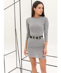 87bbccae326d The Fashion Project Ριπ εφαρμοστό midi φόρεμα - Γκρι - 06729027001