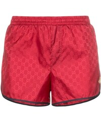 a6f5af21c2 Gucci monogram bee embroidery swim shorts - Red