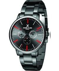 Ρολόι Daniel Klein Exclusive πολλαπλών ενδείξεων με μαύρο μπρασελέ  DK11109-3 + Μαύρο δερμάτινο λουράκι 378ae0f30b4
