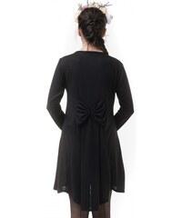 Petit Boutik Μαύρο Καπιτονέ Φόρεμα με Μπορντό Ουρά   Φιόγκο - Glami.gr d98fdecf50f