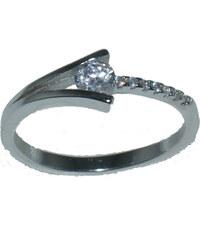 Ασημένιο δαχτυλίδι SE RG721 Μονόπετρο σε ασημί χρώμα και λευκά ζιργκόν έως  6 άτοκες δόσεις b610909896d