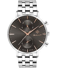 Ρολόι Gant Park Hill II με ημέρα ημερομηνία και ασημί μπρασελέ G121004 23727ab84ef
