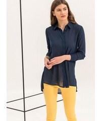 3c10b21625b8 Noobass Λεπτή πουκαμίσα με κουμπιά - Μπλε σκούρο - 06721023009