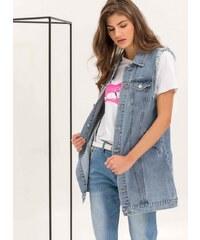 faa2307b076f The Fashion Project Αμάνικο oversize denim jacket - Μπλε jean - 06759024003