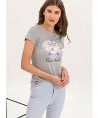 b4fe5db151a3 The Fashion Project Εφαρμοστό t-shirt με στάμπα καρδιά με λουλούδια - Γκρι  - 06839038001