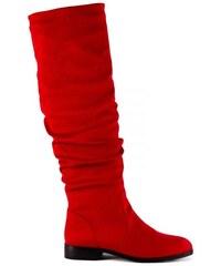 MIGATO Κόκκινη μπότα πάνω από το γόνατο - Glami.gr 42815798445