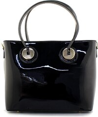 InShoes Γυναικείες τσάντες χειρός λουστρίνι Μαύρο 3c678d1d307