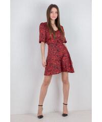 f045c88aa170 ONAGE Γυναικείο φόρεμα σεμιζιέ με μανίκια 3 4 ΚΟΚΚΙΝΟ