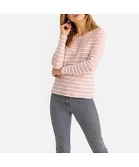 f79218d2bbff ANNE WEYBURN Μακρυμάνικη ριγέ μπλούζα με στρογγυλή λαιμόκοψη