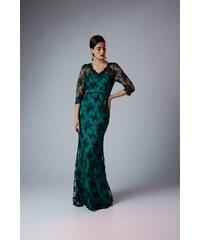 174a5e3fa426 Φόρεμα Με Βολάν Και Επιπλέον Μανίκια Vagias 9698-10 Πράσινο Βεραμάν ...