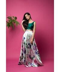 25ad3b60385 The Fashion Project Ψηλόμεση φούστα διπλής όψης με δαντέλα - Πράσινο ...
