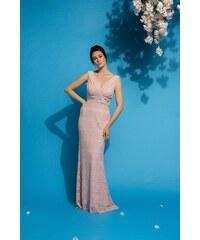 4e4c31eed60e Bibibo Maxi φόρεμα μουσελίνα με βολάν στα μανίκια - Glami.gr