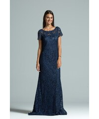 8433b269522f Φόρεμα Από Δαντέλα Vagias 8722-13 Μπλε vagias 8722-13 mple - Glami.gr