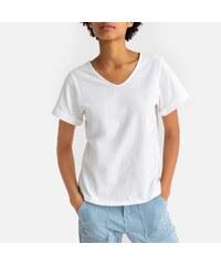 648055e1e461 LA REDOUTE COLLECTIONS Κοντομάνικη μπλούζα με V από βιολογικό βαμβάκι