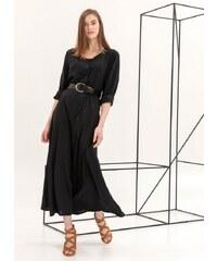 The Fashion Project Maxi φόρεμα με κροκό ζώνη - Μαύρο - 06998002001 e07ffeb13a3