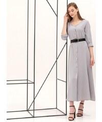 6ebed7859037 The Fashion Project Mini φόρεμα με πουά διαφάνεια στα μανίκια - Γκρι ...