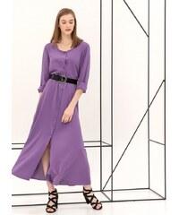 The Fashion Project Maxi φόρεμα με κροκό ζώνη - Μωβ - 06998021001 6e29d2c0114