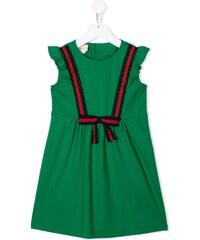 Gucci Kids bow-detail sleeveless dress - Green 777fb82e419
