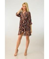 Potre Γυναικείο φόρεμα κρουαζέ snake print a25ec0d0a22