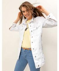 473bafc6c3a8 Issue Fashion Μακρύ λευκό τζιν τζάκετ