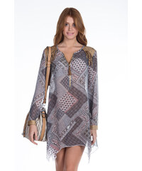 cb3eb20d019e DeCoro F7143 Φόρεμα Suede με Φερμουάρ - ΧΑΚΙ - 10 - Glami.gr
