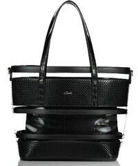 fb568cc6c7 Axel Nadina transparent handbag with extra pouch 1010-2244 coal